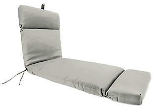 """Home Accents Outdoor Sunbrella 22"""" x 72"""" Chaise Cushion, Granite, large"""