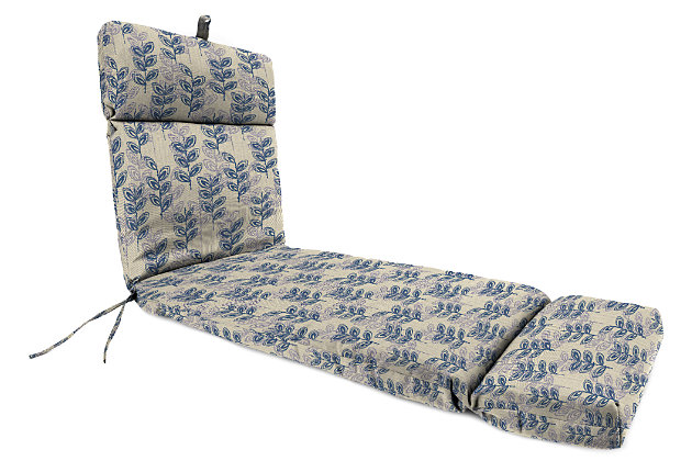 "Home Accents 22"" x 72"" Outdoor Sunbrella Chaise Cushion, Cerulean, large"