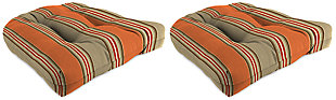 "Home Accents 18"" x 18"" Outdoor Sunbrella Wicker Chair Cushion (Set of 2), , large"