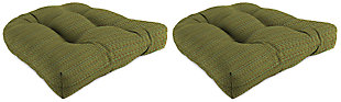 """Home Accents 18"""" x 18"""" Outdoor Sunbrella Wicker Chair Cushion (Set of 2), , large"""