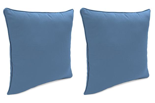 "Home Accents Outdoor Sunbrella 18"" x 18"" Toss Pillow (Set of 2), Sapphire, large"