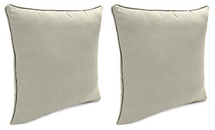 "Home Accents Outdoor Sunbrella 18"" x 18"" Toss Pillow (Set of 2), Dove, large"