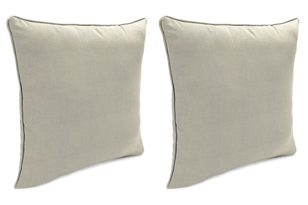 """Home Accents Outdoor Sunbrella 18"""" x 18"""" Toss Pillow (Set of 2), Dove, large"""