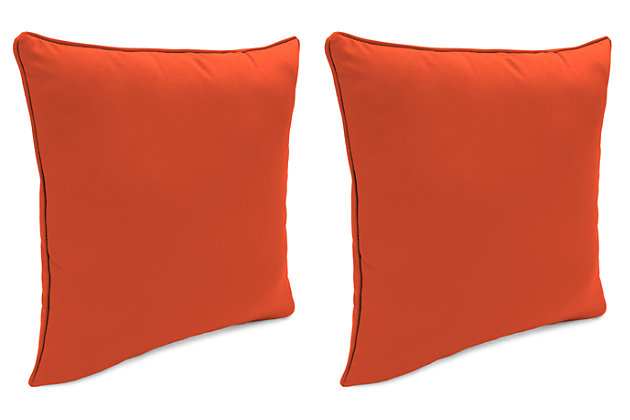 "Home Accents Outdoor Sunbrella 18"" x 18"" Toss Pillow (Set of 2), Grenadine, large"