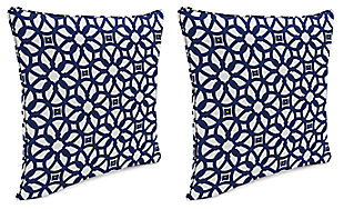 "Home Accents Outdoor Sunbrella 18"" x 18"" Toss Pillow (Set of 2), Indigo, large"