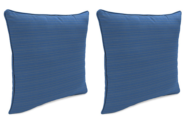 "Home Accents Outdoor Sunbrella 18"" x 18"" Toss Pillow (Set of 2), Galaxy, large"