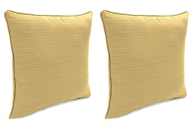 "Home Accents Outdoor Sunbrella 18"" x 18"" Toss Pillow (Set of 2), Bamboo, large"