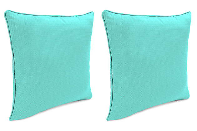 "Home Accents Outdoor Sunbrella Rain 18"" x 18"" Toss Pillow (Set of 2), , large"