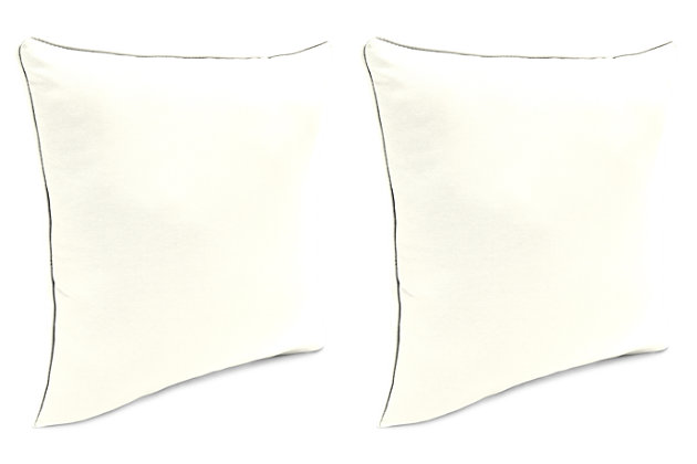 "Home Accents Outdoor Sunbrella 18"" x 18"" Toss Pillow (Set of 2), Salt, large"