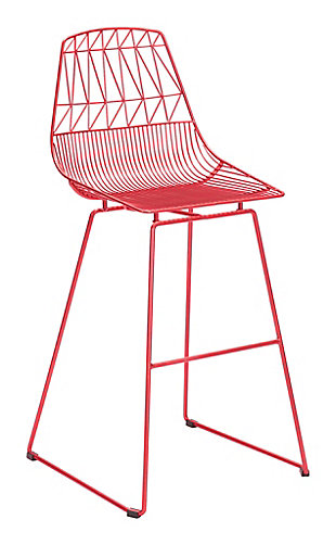 Patio Red Bar Chair (Set of 2), Red, rollover
