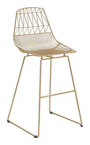 Patio Gold Finish Bar Chair (Set of 2), , rollover