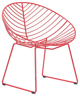 Patio Red Lounge Chair (Set of 2), Red, large