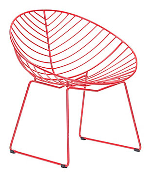 Patio Red Lounge Chair (Set of 2), Red, rollover