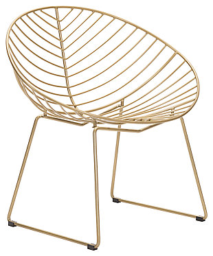 Patio Gold Finish Lounge Chair (Set of 2), , large