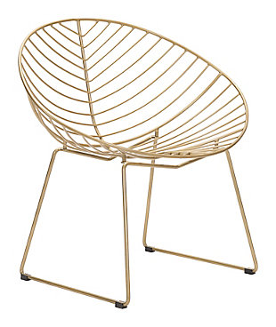 Patio Gold Finish Lounge Chair (Set of 2), , rollover