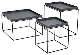 Patio Black Nesting Table (Set of 3), , large