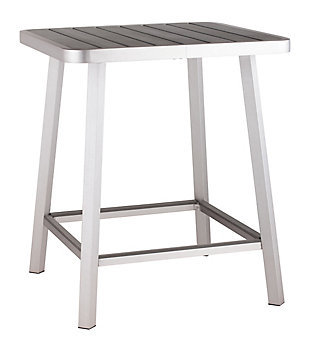 Patio Brushed Aluminum Bar Table, , large