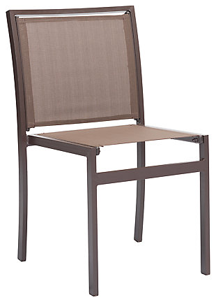 Patio Brown Dining Chair (Set of 2), Brown, large