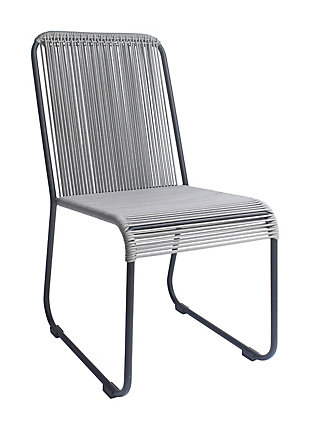 Patio Drew Black & White Dining Chair (Set of 2), , rollover