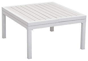 Patio Lift-Top Coffee Table, White, large