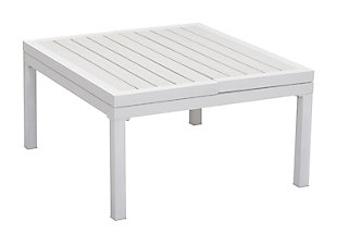 Patio Lift-Top Coffee Table, White, rollover