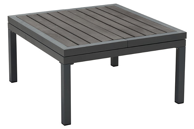 Patio Lift-Top Coffee Table, Dark Gray, large