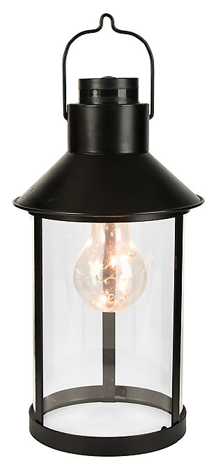 Outdoor Lantern with Plastic Edison Bulb, , large