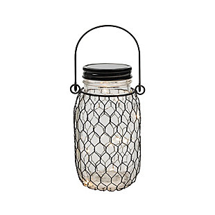 "Outdoor 6.9"" Glass Mason Jars (Set of 4), , rollover"
