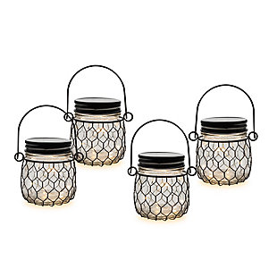 "Outdoor 3.75"" Glass Mason Jars (Set of 4), , large"