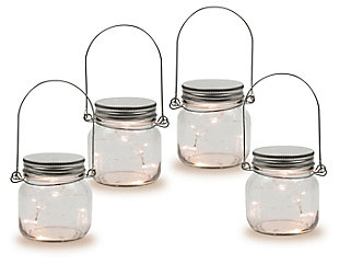 "Outdoor 3.75"" Glass Mason Jars (Set of 4), , large"