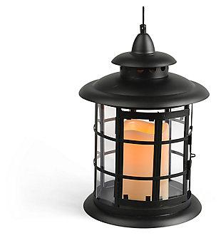 """Outdoor 10.5"""" Round Metal Lantern, , large"""