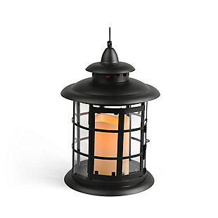 """Outdoor 10.5"""" Round Metal Lantern, , rollover"""