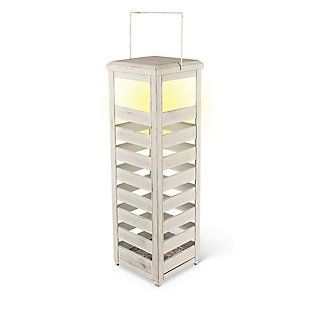"Outdoor 23.5"" Weathered Metal Lantern, , rollover"