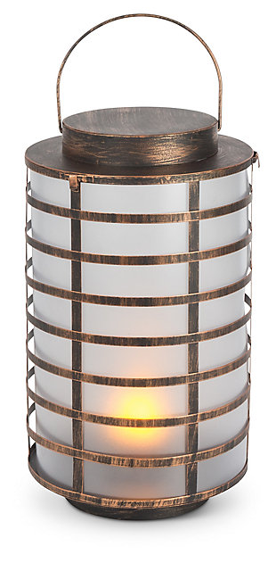"Outdoor 15.5"" Copper Metal and Plastic Lantern, , large"
