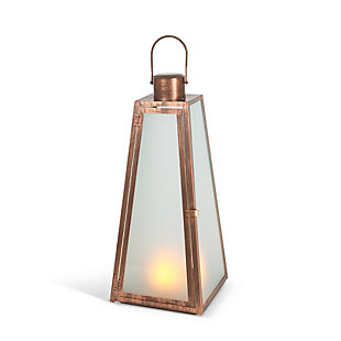 "Outdoor 20.88"" Brushed Copper Lantern, , large"