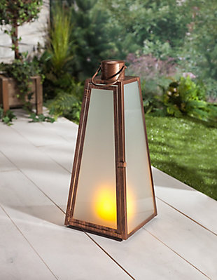 """Outdoor 20.88"""" Brushed Copper Lantern, , rollover"""