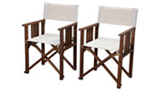 Eucalyptus Wood Off-White Director Chair (Set of 2), , large