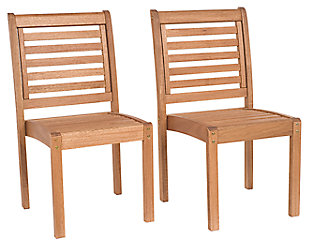 Eucalyptus Wood Sidechair (Set of 2), , large