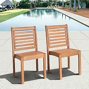 Eucalyptus Wood Sidechair (Set of 2), , rollover