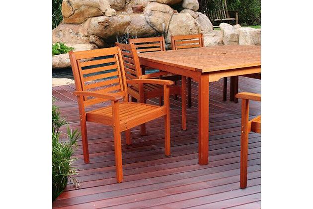 Eucalyptus Wood Armchair, , large