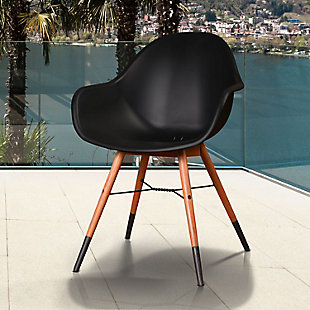 Bucket Arm Chair with Dark Legs (Set of 4), , rollover