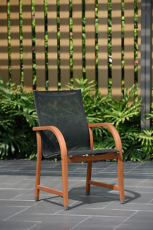 Mesh Wood Armchair (Set of 4), , rollover
