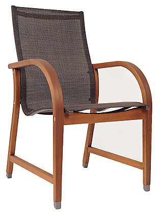Mesh Wood Armchair (Set of 4), , large
