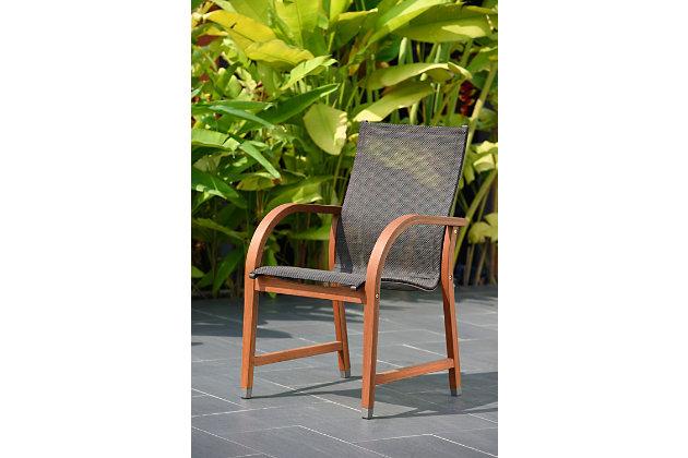 Mesh Wood Armchair (Set of 4), , large