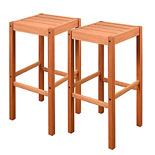 Eucalyptus Wood Barstool (Set of 2), , large