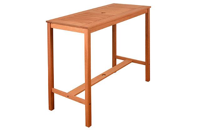 Eucalyptus Wood Bar Table, , large