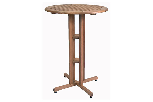 Eucalyptus Wood Round Bar Table, , large