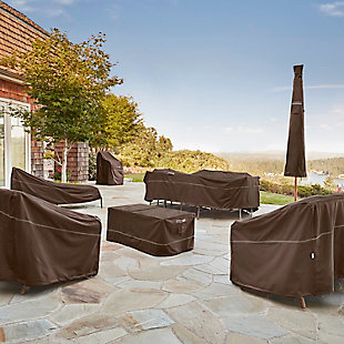 Outdoor Offset Patio Umbrella Furniture Cover, , rollover