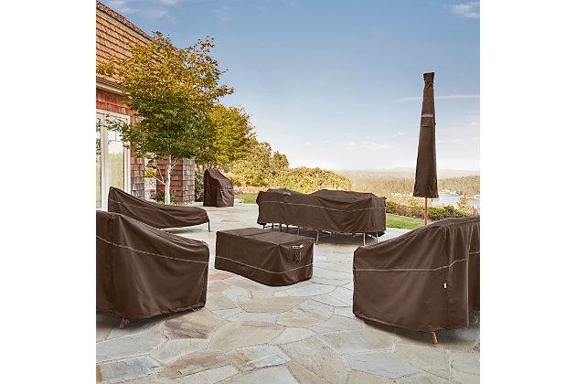 Outdoor Offset Patio Umbrella Furniture Cover, , large