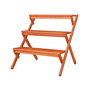 Vifah Malibu Outdoor Wood Garden Plant Stand, , large